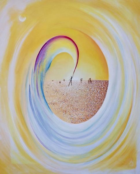 Univers unis -Acrylique et huile sur toile 50/60 cm