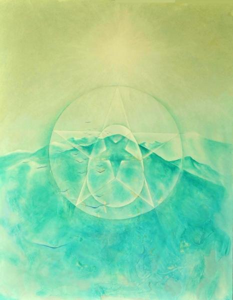 Le chemin - Acrylique et huilesur toile - 90/60 cm