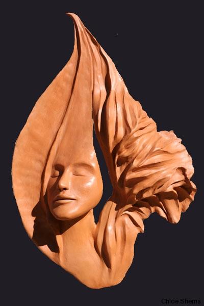 Sarasvati    -terre rouge -46/34 cm