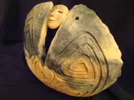Ritual       terre primitive- 30/25 cm